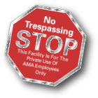 custom no trespassing property window decal on clear vinyl