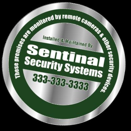 Custom printed security company window decals