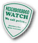 neighborhood watch window sticker on reflective vinyl
