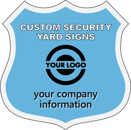 Badge shape security yard sign