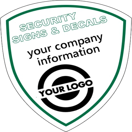 Shield shape security yard sign