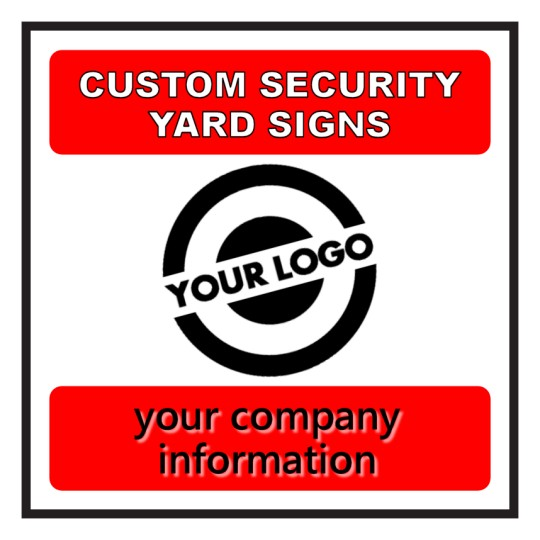 Square shape security yard sign