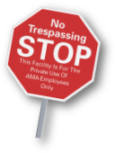 reflective custom no trespassing property sign