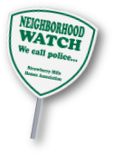 reflective neighborhood watch yard sign